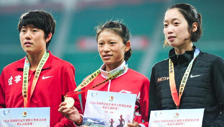 2018全国田径冠军赛:女子10000米赛况