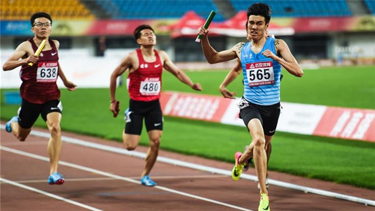 2018全国田径冠军赛:男子4×400米赛况