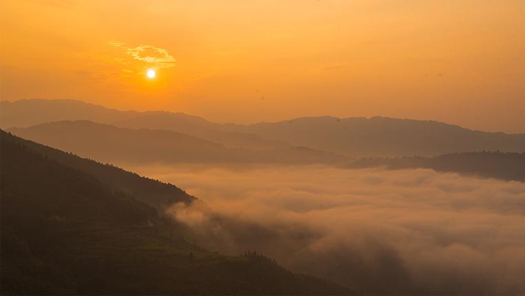 贵州从江:日出云海美如画